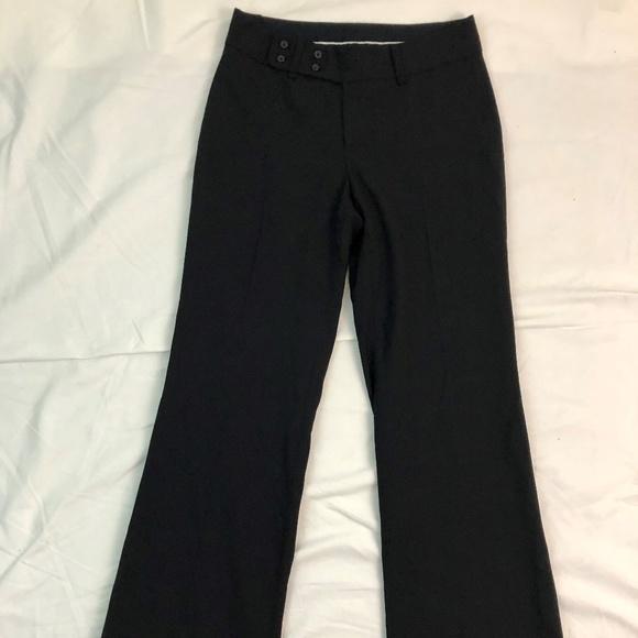 Euc Stretch Size 0r Black Banana Republic Womens Wool Dress Pants Poly Liner